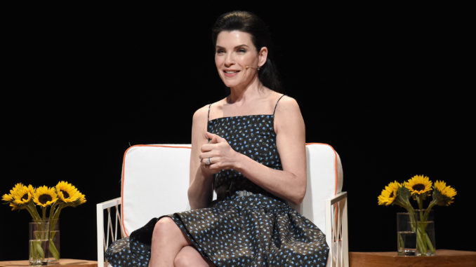 c80ccd205f04 Actor and Producer Julianna Margulies speaks onstage during The Tory Burch  Foundation ...